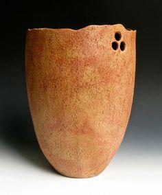 Tall Pierced Bowl by LeeDanielsClayWorks on Etsy