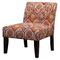 Avington Upholstered Slipper Chair - Crimson Floral