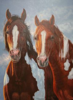 "ACEO Art Print Acrylic Painting /""Painted Sky/"" Paint Pinto Horse Rainbow Sunset"