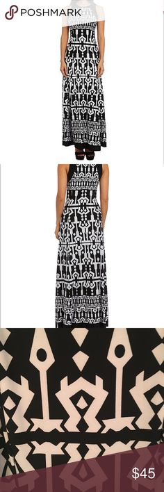 "NWT Black and White Printed Maxi Dress Size: 16 Color: Black and White  Delivering a slimming fit and fresh, modern look you'll love to flaunt, this versatile piece is equal parts fashion-savvy and totally cozy. Its spandex blend construction ensures that your comfort is never second best when you slip into this scintillating statement piece. Approximately 54-in. L Invisible zip closure Scoop neck Sleeveless Unlined Hand wash Spandex Import Measurements: Chest- 41.5""; Waist- 33.5""; Hips…"