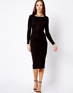 New Look 3/4 Sleeve Bodycon Midi Dress- maybe for a wedding
