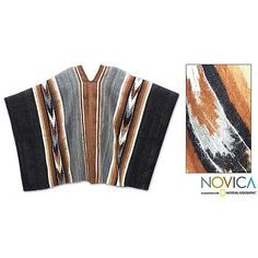 This handmade creation is offered in partnership with NOVICA, in association with National Geographic. Product Features: Andean customs inspire Faustino Maldonado Poncho woven of genuine alpaca wool I