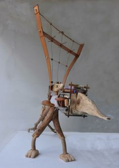 The Sculptors Society - Micha Nussinov - 'Taking a ride with Lizy'
