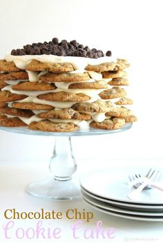 Chocolate Chip Cookie Cake @createdbydiane