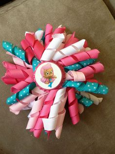 bubble guppie korker bow by SaydesBowtique on Etsy, $5.00
