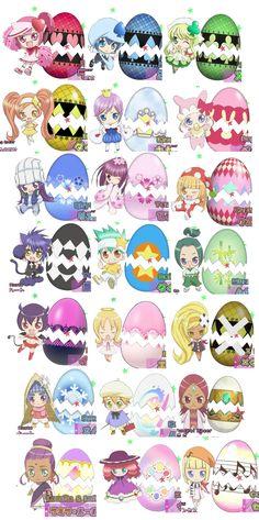 Shugo Charas : Ran-Miki-Su-Dia-Kiseki-Peppe-Rhytm-Temari-Kusu Kusu-Yoru-Daichi-Musashi-Iru-Eru-Dia You can find Shugo chara and more on our website. Shugo Chara, Anime Chibi, Kawaii Anime, Manga Anime, Anime Art, Vocaloid, Tokyo Mew Mew, Gekkan Shoujo Nozaki Kun, Pokemon