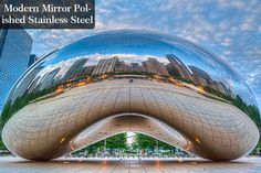 """Cloud Gate is a public sculpture by Indian-born British sculptor Anish Kapoor in Millennium Park, Chicago. The sculpture is shaped like an ellipse, and its legume-like appearance has caused it to be nicknamed """"The Bean"""". Steel Sculpture, Modern Sculpture, Abstract Sculpture, Sculpture Art, Anish Kapoor, Kensington Gardens, Guggenheim Bilbao, Love Statue, Chicago"""