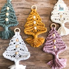 Christmas Projects, Christmas Crafts, Christmas Tree, Christmas Ornaments, Xmas, Macrame Projects, Craft Projects, Macrame Design, Tatting Lace