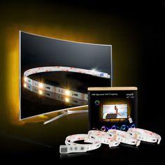 LED Strip, TV Hintergrundbeleuchtung USB LED Streifen Für 40 bis 60 HDTV RGB LED TV Beleuchtung 4*50cm( 2M/6.56ft ) mit 24keys Remote,LED Beleuchtung
