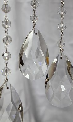 Teardrop Chain Crystal Prism 3 Feet, wedding tree crystals, crystals for chandeliers, crystals for weddings