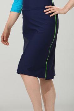 $72 Modest Swimwear - Long Navy Swim Skirt