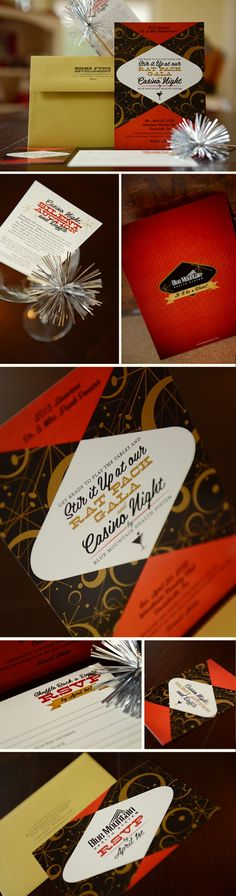 Awesome invitation idea for a casino/rat pack  party