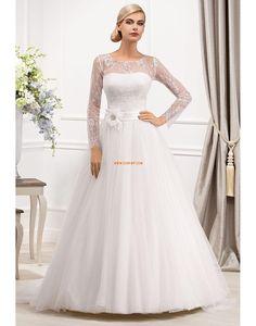 796d565049e7 Elegantní   moderní Trička Empírové Svatební šaty 2014 Wedding Dress  Sleeves