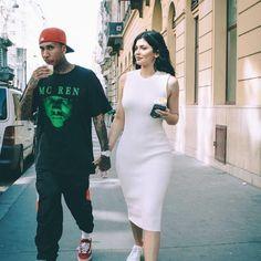 kylie jenner, tyga, and couple image Kylie Jenner Y Tyga, Kyle Jenner, Kylie Jenner Style, Kendall Jenner Outfits, Tyga Style, Estilo Kardashian, Kardashian Style, Kardashian Jenner, Travis Scott