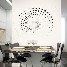 Adesivo de parede Espiral, muito moderno!