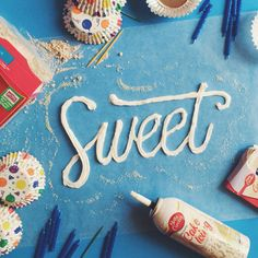 Cool Lettering Made With Food. | You And Saturation