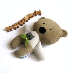 "Teddy bear plushie rag doll toy stuffed animal handmade light brown beige plush soft softie toddler child safe 25 cm 9.8"". $35.00, via Etsy."