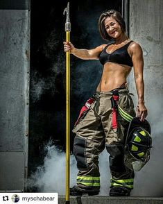 Busty rounded ass fitness woman in jacuzzi wearing no bra just a sexy bikini thong swimwear. Hot Firefighters, Firemen, Female Firefighter, Bikini Cover Up, Sexy Bikini, Hot Girls, Military Girl, Female Soldier, Military Women