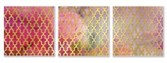 Lara Skinner - LD982_Grid Triptych_three Panels
