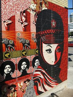 Shepard Fairey street art #graffiti