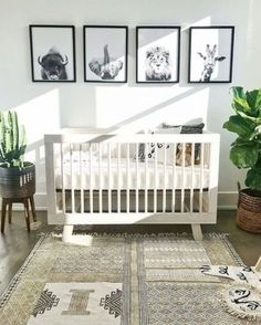 gender neutral nursery decor boho chic animal themed nursery Babyzimmer - saansh - by sandra pietras Baby Nursery: Easy and Cozy Baby Room Ideas for Girl and Boys Baby Room Boy, Baby Bedroom, Girls Bedroom, Room Boys, Kid Bedrooms, Bedroom Ideas, Baby Bedding, Kids Rooms, Baby Nursery Ideas For Boy