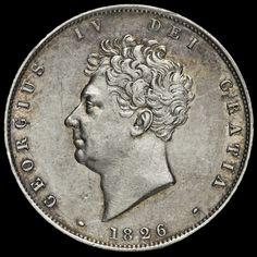 1826 George IV Milled Silver Half Crown, A/EF