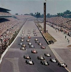 1965 Indianapolis 500 : Warm up. (ph: IMS)