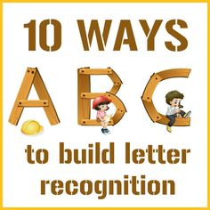 Love the letters buried in rice idea!! Ideas for Building Letter Recognition