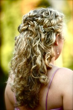 EMily's curly twist braided up-do!turned out so beautiful! Long Curly Wedding Hair, Wedding Updo, Wedding Hairstyles, Hair Inspiration, Wedding Inspiration, Twist Braids, Hair Dos, Natural Beauty, Dream Wedding