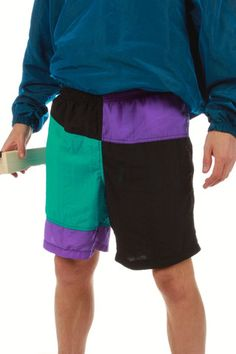 7f5c0e601c Vintage 90s Swim Trunks   Get your retro beach gear and all manner of  outrageous threads