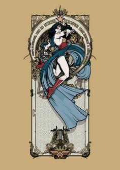 Wonder Woman - Beautiful as Aphrodite, Wise as Athena, Stronger than Hercules & Swifter than Mercury