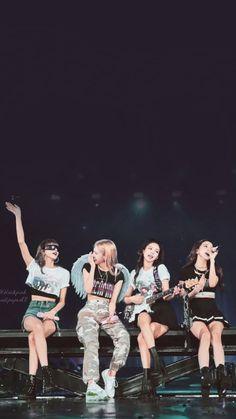 Black Pink Songs, Black Pink Kpop, Kpop Girl Groups, Kpop Girls, K Pop, Foto Rap Monster Bts, Blackpink Poster, Blackpink Funny, Mode Kpop