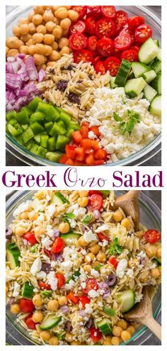 Greek Orzo Pasta Salad is light, refreshing, and so flavorful! Always a hit at parties and potlucks! for parties Greek Orzo Salad - Baker by Nature Orzo Salad Recipes, Summer Salad Recipes, Orzo Pasta Salads, Best Summer Salads, Summer Pasta Salad, Healthy Summer, Barley Salad, Soup And Salad, Vegetarian Recipes