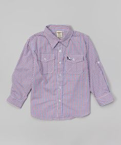 Another great find on #zulily! Lavender Button-Up - Toddler & Boys by Longstreet #zulilyfinds