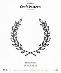 Laurel Tattoo, Laurel Wreath Tattoo, Wreath Drawing, Flower Svg, Flower Doodles, Silhouette Design, Craft Patterns, Traditional Tattoo, Clipart