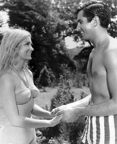 yvette mimieux, george hamilton, light in the piazza by guy green, Hooray For Hollywood, Old Hollywood, Yvette Mimieux, George Hamilton, Romantic Films, Studio Shoot, Moving Pictures, Classic Movies, Great Movies