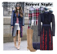 """""""Day One: The Best NYFW Street Style"""" by fashionbrownies ❤ liked on Polyvore featuring Dolce&Gabbana, Christian Dior, Salvatore Ferragamo, Chloé, BCBGMAXAZRIA, Gianvito Rossi, women's clothing, women, female and woman"""