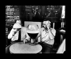 Cadre image Terrasse cafe noir et blanc 24X30 cm
