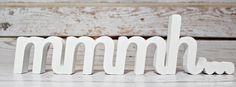 NAPIS mmmh... stojący litery 3D dekoracja - sweety-home - Litery i napisy