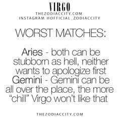 Zodiac Virgo Worst Matches! TheZodiacCity.com – For more interesting facts on the zodiac signs, click here.