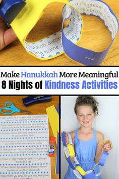 Raising Kind Kids - Coffee and Carpool // Helpful Parenting Tips // Special Needs Mom Support Hanukkah Crafts, Jewish Crafts, Hannukah, Kindness Activities, Preschool Activities, Family Activities, Fun Crafts, Crafts For Kids, Kindness Challenge