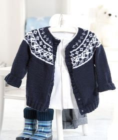 Baby Fair Isle Yoke Cardigan | KnitSMC.com