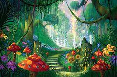 Whimsical mural