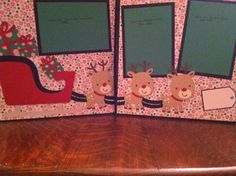 Christmas Reindeer Pulling a Sleigh with by aSavvyScrapbooker, $12.00