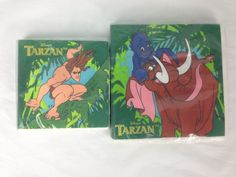 32 Disney Tarzan Birthday Party Supplies Napkins 16 Large 16 Small Tantor Terk #PartyExpress