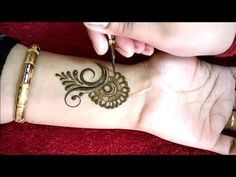 Latest Stylish Arabic Mehndi Design || Arham Mehndi Designs - YouTube
