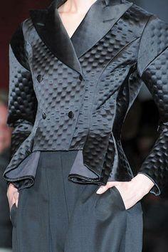 Yves Saint Laurent Fall 2009 - black satin jacket detail