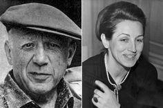 Pablo Picasso & Francois Gilot When Pablo Picasso was 63 years old he began… Pablo Picasso, Francoise Gilot, Young Art, Social Art, Georges Braque, Great Artists, Famous Artists, Famous Couples, Dance Company