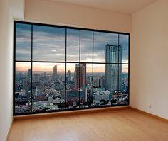 Items similar to apartment window view of Tokyo, Japan photo wallpaper mural. Peel & stick apartment style window mural on Etsy Window Mural, Door Murals, Window View, Mural Art, Fake Window Light, Home Helpers, Casa Loft, Huge Windows, Best Flooring