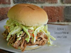 Crockpot Sweet & Tangy Shredded Pork Recipe (includes the healthy cole slaw recipe)
